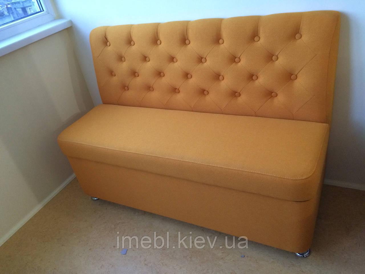 Мягкий диван на кухню или балкон (Оранжевый)