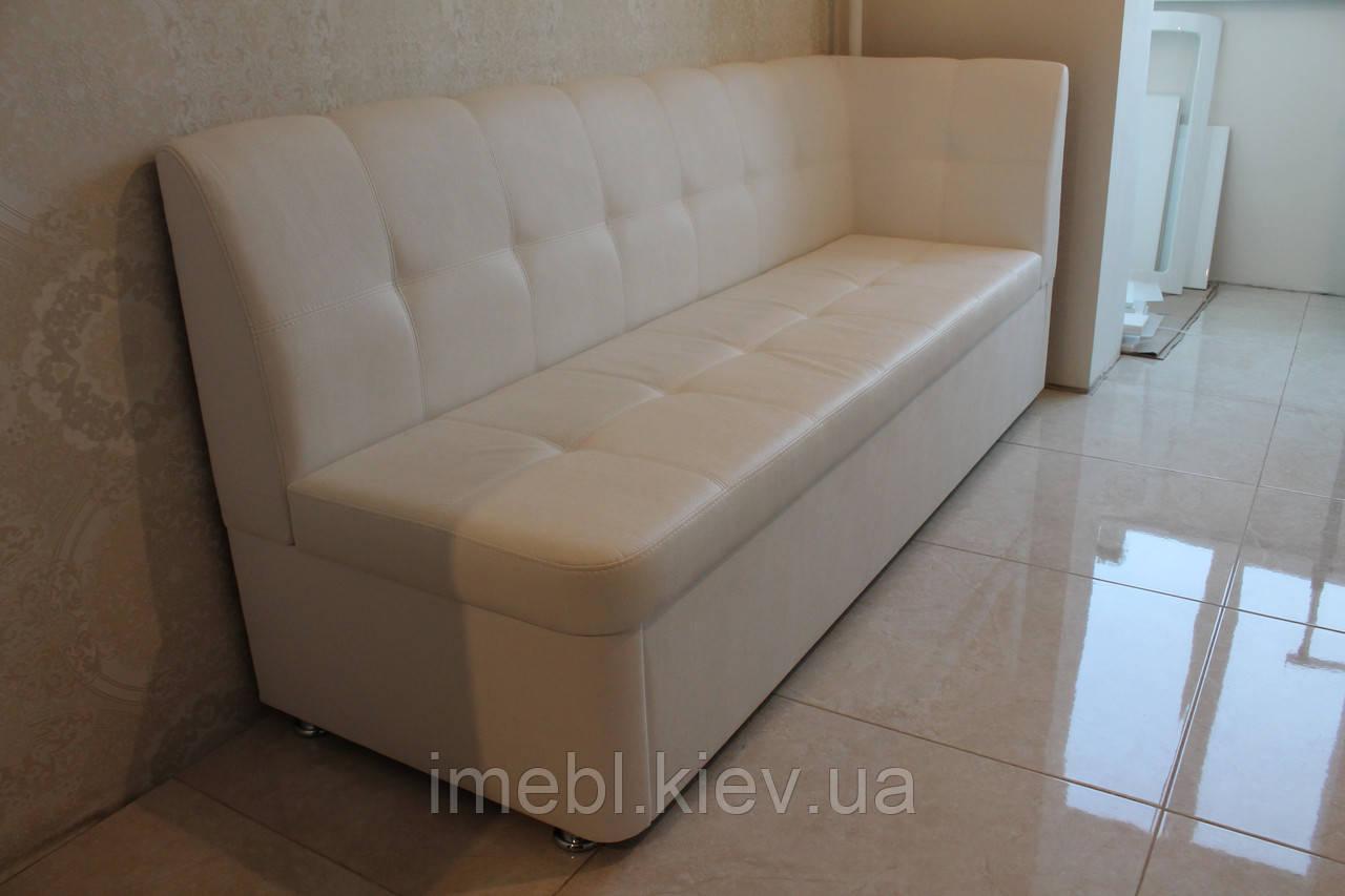 М'яка кухонні лавка зі спальним місцем (Біла)