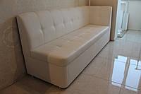 Мягкая кухонная лавка со спальным местом (Белая), фото 1
