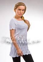 Вязаное платье - туника Trikobakh белого цвета T588-3