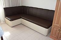 Кухонный уголок со спальным местом и ящиком (Коричневый с молочным), фото 1