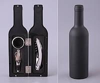 "Набор для вина ""Бутылка"" 3 предмета (кольцо на бутылку, штопор, дозатор) 752-002"