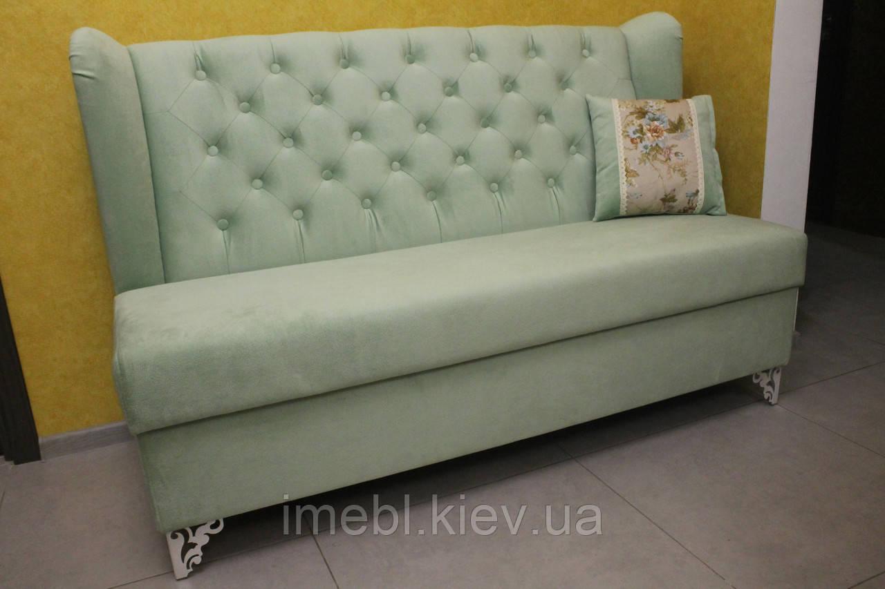 Лавочка мягкая для кухни под заказ в Киеве (Салатовая)