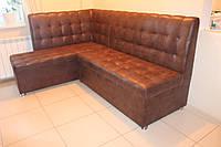 Уголок мягкий кухонный коричневого цвета, фото 1