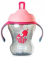 Чашка-непроливайка Explora, малиново-розовая (230 мл), Tommee Tippee