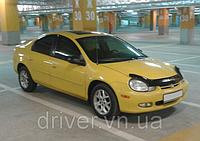 Дефлектор капота (мухобойка) Dodge Neon 2000-2005, на крепежах