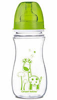 Антиколиковая бутылочка EasyStart Цветные зверюшки (зеленая крышка), 300 мл, Canpol babies