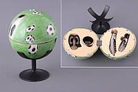 """Набор для вина """"Футбольный мяч"""" 4 предмета (кольцо на бутылку, штопор, дозатор, резак фольги) 752-004"""