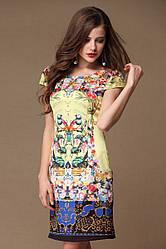 Огромная скидка на последний размер. Платье Love с оригинальным восточным принтом OB90034