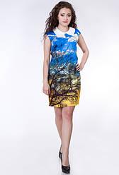 Полная распродажа остатков. Платье GUCCI с оригинальным природным принтом OB90035