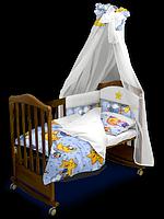 Комплект постельного белья «Сонный Мишка» Premium с балдахином
