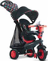 Велосипед Boutigue 4 в 1, черно-красный, Smart Trike
