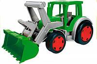 Трактор Гигант с ковшом, 55 см, Wader