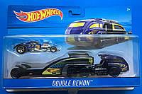 Грузовик-трейлер Hot Wheels Double Demon и машина  BDW51