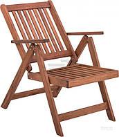 Садовое кресло складное из дерево с подлокотниками