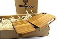Эксклюзивный деревянный раскладной чехол Сандал для iPhone 5/5S, фото 1
