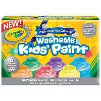 6 баночек со смываемыми красками цвета металлик, Crayola