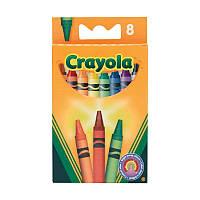 8 разноцветных стандартных восковых мелков, Crayola