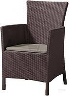 Садовое кресло искусственный ротанг коричневое