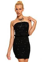 Ликвидация стока товара. Черное платье-карандаш с рюшами L2609-2