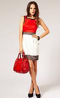 Оригинал. Распродажа остатков. Платье Karen Millen красно - белого цвета KM70336