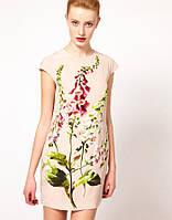 Оригинал. Цены закупки.Нежно розовое платье Karen Millen с цветочным принтом KM70368