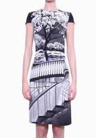 Оригинал. Полная распродажа. Платье Karen Millen с принтом парк KM70519