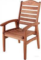 Садовое кресло дерево с подлокотниками