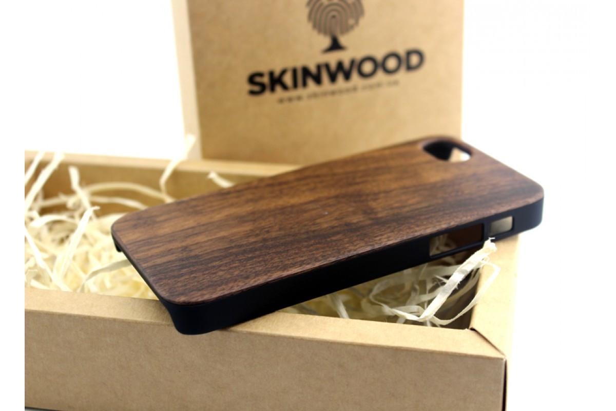 Эксклюзивный деревянный чехол Американский орех для iPhone 5/5S