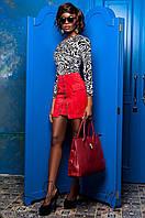 Замшевая красная юбка Норди Jadone 42-50 размеры