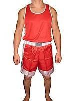 Боксёрские майка и шорты (красный, синий S,M,L,XL).
