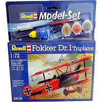 Model Set Самолет Fokker DR.1 Triplane, 1:72, Revell