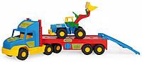 Super Truck, эвакуатор с трактором. 110 см, Wader
