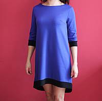 Женское синее платье с бабочкой