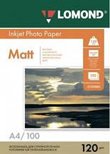 Бумага Lomond 120 г/м, матт, А4, 100 листов.