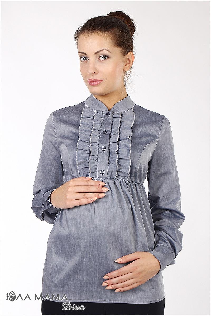 Блуза для беременных Michele синий меланж размер 44-S