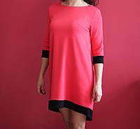 Женское розовое платье с бабочкой