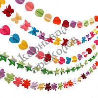 Гирлянда бумажная 3D Цветы, фото 1