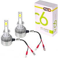 Лампа автомобильная  PULSO С6/LED/H3 PK22S/2*280°COB/12-24v36w/3800Lm/4300K