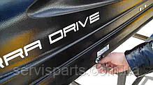 Автобокс на крышу Terra Drive 480 (Терра Драйв) Светло-серый (Двустороннее открытие), фото 2