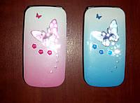 Samsung W 888 B-four раскладной телефон для девочек (2 SIM) в цветах