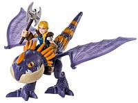Астрид и дракон Громгильда в фиолетовом окрасе, (19 см), Как приручить дракона, Spin Master