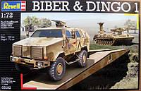 Базовая машина-мостоукладчик Bruckenlegepanzer Biber & автомобиль ATF Dingo1; 1:72, Revell