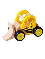 """Игрушка Viga Toys """"Бульдозер"""", машинка бульдозер, деревянная машинка"""