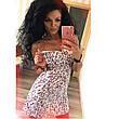 Женский стильный сарафан в горошек большого размера. Ткань: джинс-коттон. Размер: 50-52,54-56., фото 2