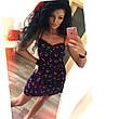 Женский стильный сарафан в горошек большого размера. Ткань: джинс-коттон. Размер: 50-52,54-56., фото 3