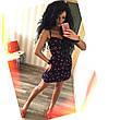 Женский стильный сарафан в горошек большого размера. Ткань: джинс-коттон. Размер: 50-52,54-56., фото 4