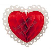 Декор 3D Сердце 27см, фото 1