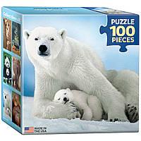 Белая медведица с медвежонком 100 элементов. Eurographics