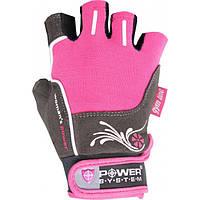 Женские перчатки розовые Power System для тренировок